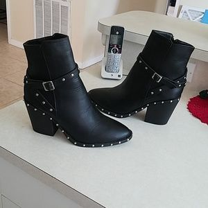 Nasty gal Studded Buckle strap ankle boots NWOB 10